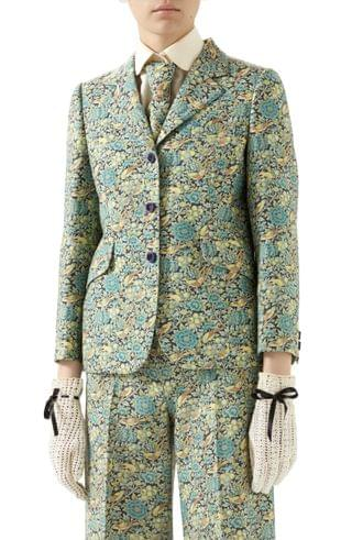 WOMEN Gucci x Liberty London Floral Print Wool & Mohair Jacket
