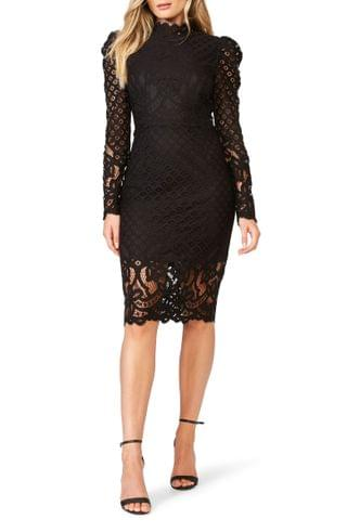 WOMEN Bardot Taylah Long Sleeve Lace Cocktail Dress
