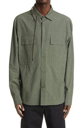 MEN Craig Green Laced Cotton Long Sleeve Button-Up Shirt