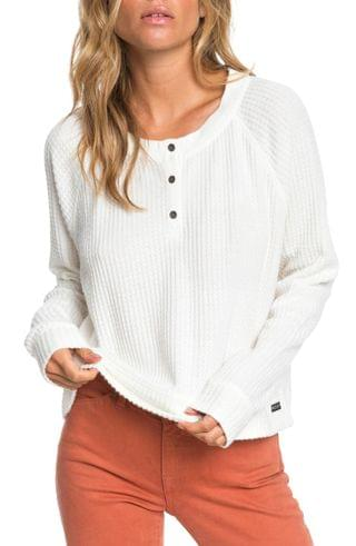 WOMEN Roxy Take It Home Waffle Knit Top