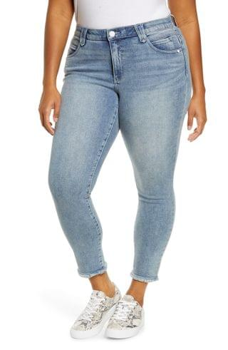 WOMEN Wit & Wisdom Ab-Solution High Waist Fray Hem Ankle Skinny Jeans (Plus Size) (Nordstrom Exclusive)