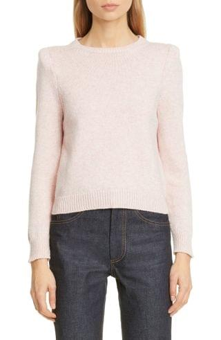 WOMEN MARC JACOBS Padded Shoulder Cashmere Sweater