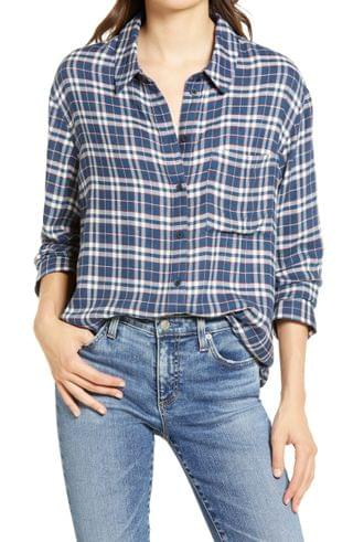 WOMEN Treasure & Bond Plaid Boyfriend Shirt