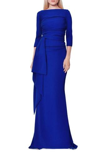 WOMEN Talbot Runhof Stretch Crepe Mermaid Gown