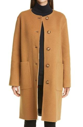 WOMEN Burberry Tisbury Reversible Virgin Wool Blend Coat