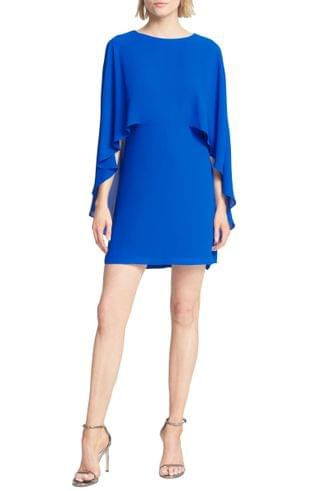 WOMEN Halston Heritage Cape Sleeve Cocktail Dress