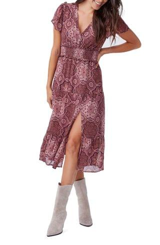 WOMEN PAIGE Holland Smocked Silk Dress
