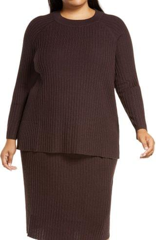 WOMEN Eileen Fisher Merino Wool Crewneck Top (Plus Size)