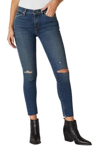 WOMEN Hudson Jeans Nico Ripped Mid Rise Ankle Skinny Jeans (Worn Shakedown)