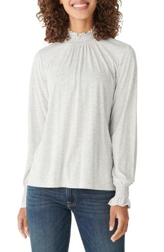 WOMEN Lucky Brand Smock Detail Long Sleeve Top
