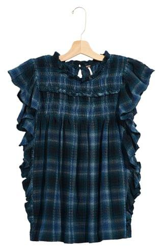 WOMEN Free People Not Your Average Girl Plaid Top