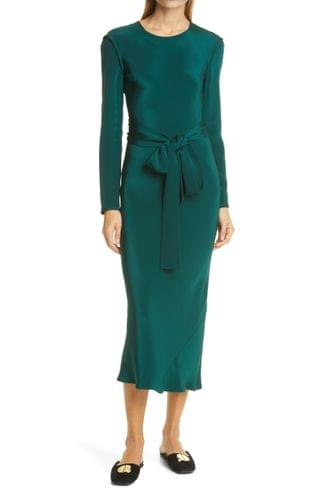 WOMEN Rachel Comey Saranac Long Sleeve Silk Dress