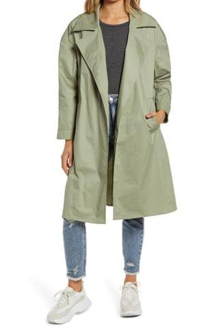 WOMEN Tinsel Belted Trench Coat