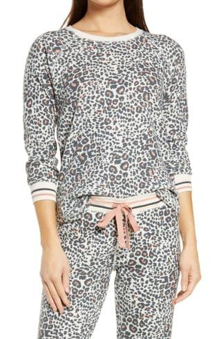 WOMEN PJ Salvage Animal Print Thermal Pajama Top
