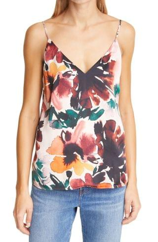 WOMEN CAMI NYC The Olivia Autumn Floral Silk Camisole