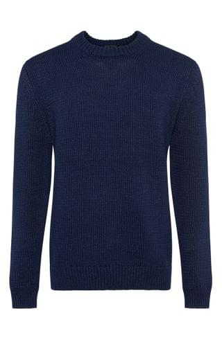 MEN French Connection Chunky Indigo Sweater