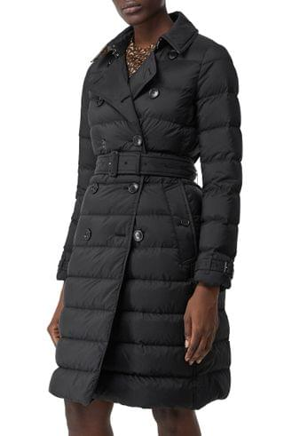 WOMEN Burberry Arniston Double Breasted Puffer Coat