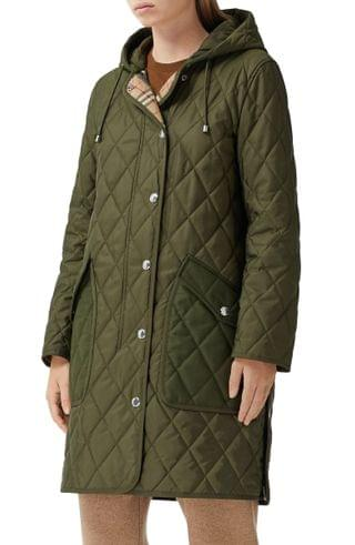 WOMEN Burberry Roxby Thermoregulated Quilted Coat