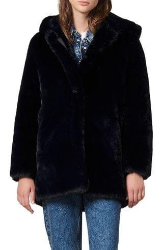 WOMEN sandro Faux Fur Coat