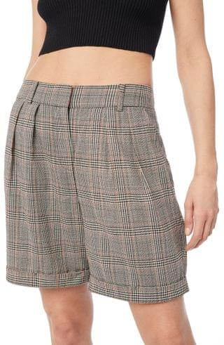 WOMEN FRAME Relaxed Plaid Shorts