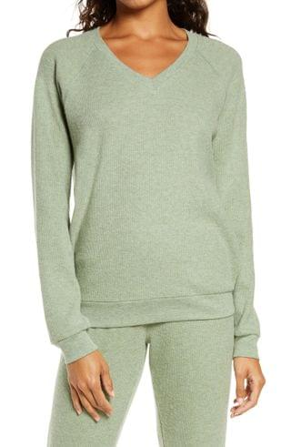 WOMEN PJ Salvage Thermal V-Neck Pullover