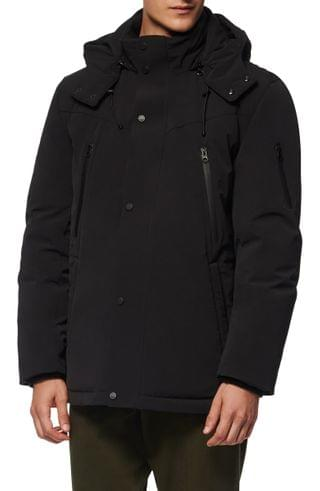 MEN Andrew Marc Torbeck Water Resistant Hooded Down Jacket
