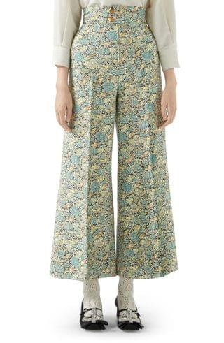 WOMEN Gucci x Liberty London Floral Print Wool & Mohair Crop Pants