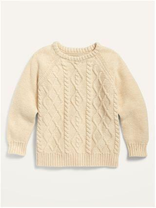 KIDS Cable-Knit Crew-Neck Sweater for Toddler Boys