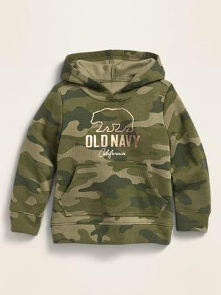KIDS Logo-Graphic Camo-Print Pullover Hoodie for Toddler Girls