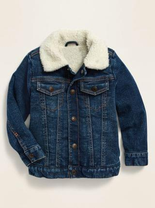 KIDS Sherpa-Lined Jean Trucker Jacket for Toddler Boys