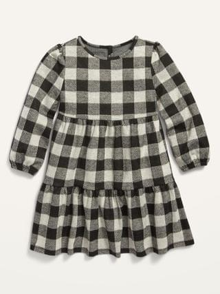 KIDS Plaid Tiered Swing Dress for Toddler Girls