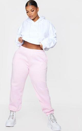 WOMEN Plus Baby Pink Casual Joggers