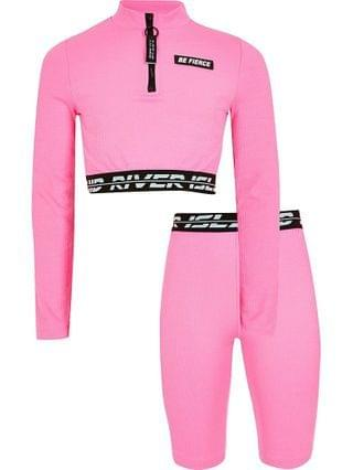 KIDS Age 13+ girls pink RI Active crop top outfit