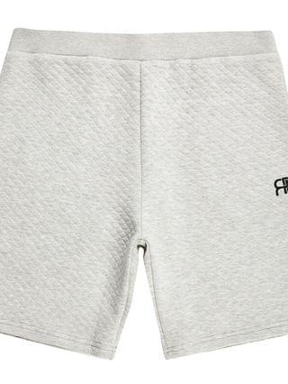 MEN Grey 'RR' quilted shorts
