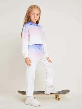 KIDS Drop Shoulder Ombre Hoodie and Slant Pocket Joggers Set