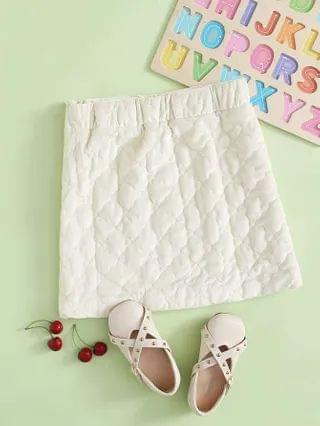KIDS Quilted Velvet Skirt