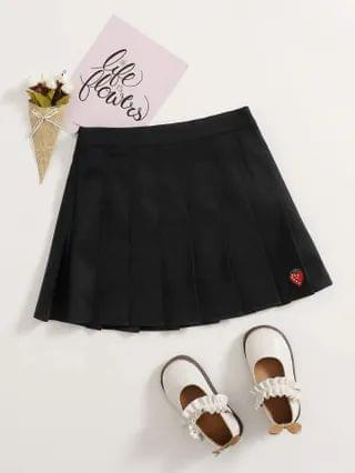 KIDS Strawberry Print Pleated Skirt
