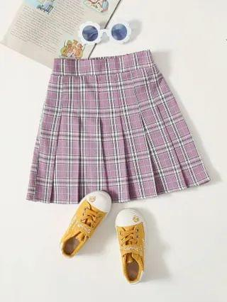 KIDS Tartan Pleated Skirt