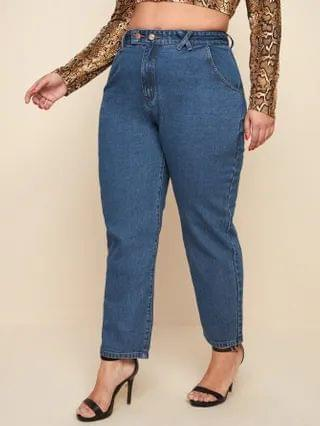 WOMEN Plus High Waist Mom Fit Jeans
