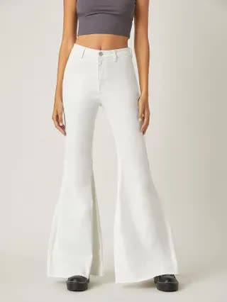 WOMEN BLUES High-Waisted Just Float On Flare Jeans