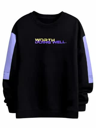 MEN Men Color Block And Slogan Graphic Sweatshirt