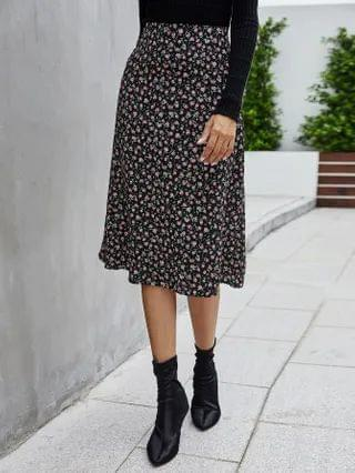 WOMEN Ditsy Floral A-Line Midi Skirt