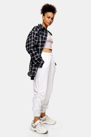 WOMEN White Ruched Sweatpants