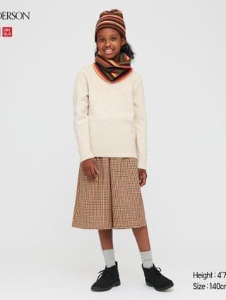 KIDS girls checked cropped wide pants (JW Anderson)
