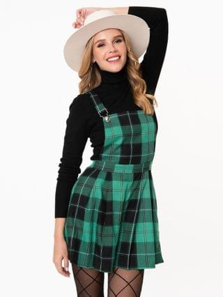WOMEN Collectif Retro Green & Black Plaid Hani Playsuit