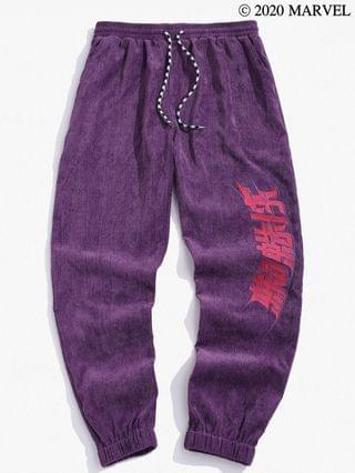 MEN Marvel Spider-Man Embroidery Cord Pants - Concord 2xl