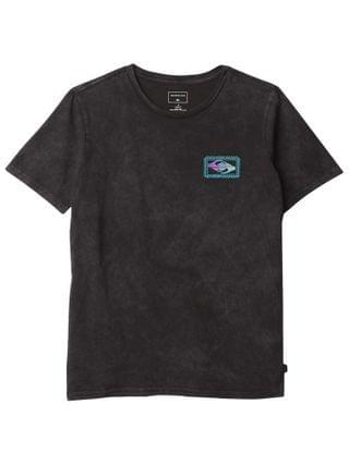 KIDS Quiksilver Kids - Midnight Show Short Sleeve Screen Tee (Big Kids)