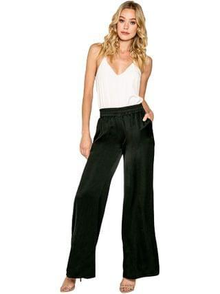 WOMEN LAVENDER BROWN - High-Waisted Pull-On Wide Leg Pants
