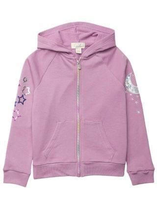 KIDS PEEK - Baby French Terry Star and Moon Hoodie Jacket (Toddler/Little Kids/Big Kids)