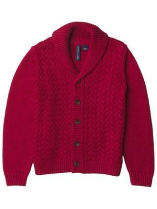 KIDS Janie and Jack - Cable Shawl Cardigan Pullover (Toddler/Little Kids/Big Kids)